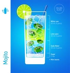 Mojito cocktail vector image vector image