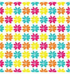 seamless pattern with a lot of bright flowers vector image vector image