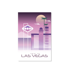 Trip to las vegas travel poster template vector