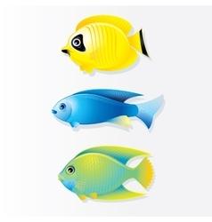 Cartoon Coral reef Fish Image vector image vector image