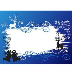 Christmas holiday deer banner card vector image