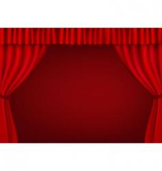 red curtains vector image vector image