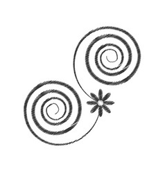 drawing decorate swirl ornate style vector image vector image