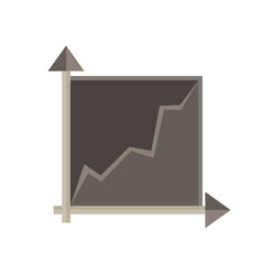 graph chart data business icon isolated bar vector image vector image