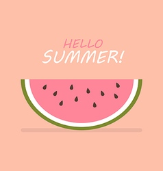 Hello summer of slice of watermelon vector image vector image