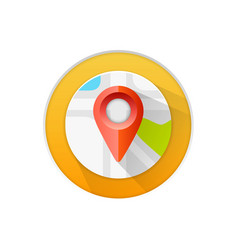 location icon flat sign white background vector image