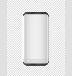 modern smartphone mockup isolated on transparent vector image vector image