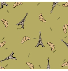 Paris seamless pattern with eiffel tower and vector image vector image