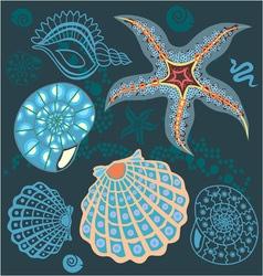 sea paradise set4 vector image