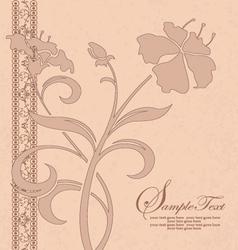 vintage floral invitation card vector image vector image