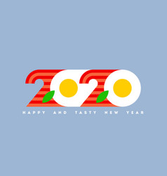 2020 look like eggs with bacon for cook food theme vector image
