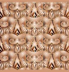 3d ornate geometric greek seamless pattern vector image