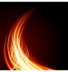 Abstract burning flame vector