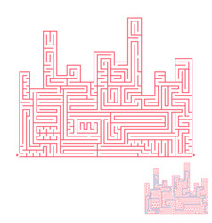 Abstract complex large isolated labyrinth in the vector
