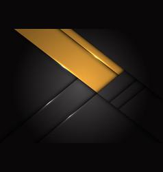 abstract yellow label overlap on dark grey metalli vector image