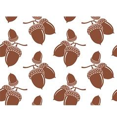 Acorn Pattern vector image