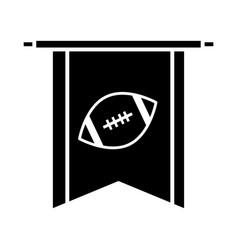 american football pendant game sport professional vector image