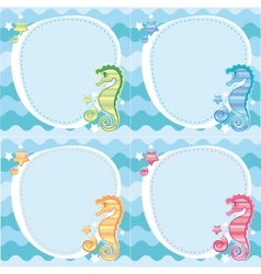 backgrounds of seahorses vector image