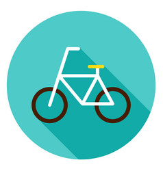 Bicycle circle icon vector