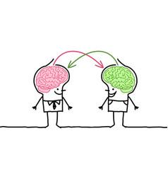 Big brain men exchange vector