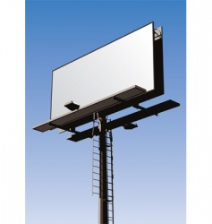 billboard sign vector image