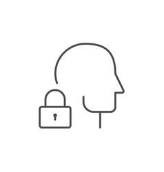 biometric identification line outline icon vector image