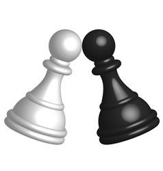 Black and white pawn vector