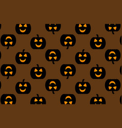 black pumpkin on brown background vector image