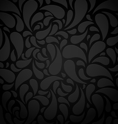 Black water shape abstract background vector