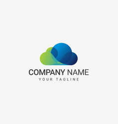 blue cloud logo template vector image