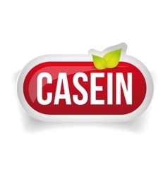 Casein button or pill - Fitness supplement vector