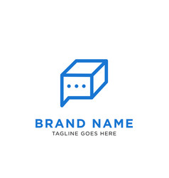 chat box logo design inspiration vector image