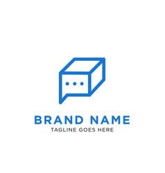 chat box logo design inspiration vector image