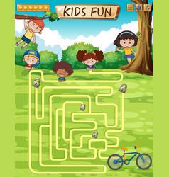 children fun game template vector image