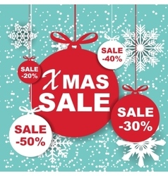 Christmas and New Year Sale Background Discount vector