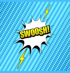 Comic swoosh wording background vector