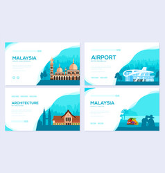 Country malaysia travel vacation of place and vector