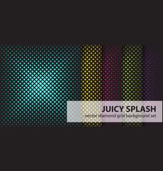 Diamond pattern set juicy splash seamless vector