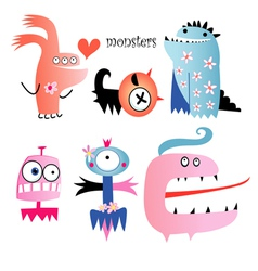 Different funny monsters vector image