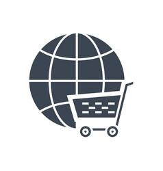 E-commerce solution glyph icon vector