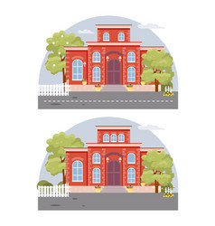 find ten differences in the image vector image