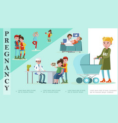 flat pregnancy and maternity template vector image