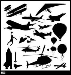 Flight silhouettes vector