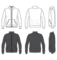 Front back and side views blank jacket vector
