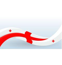 Georgia national flag waving unusual shape vector