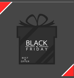 gift box - black friday sale concept vector image