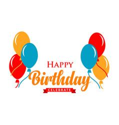 Happy birthday logo template design vector