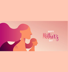 Happy mother day web banner for daughter love vector