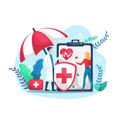 Health insurance concept vector