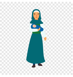 immigrant mother baby icon flat style vector image